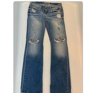Extremely distressed jeans